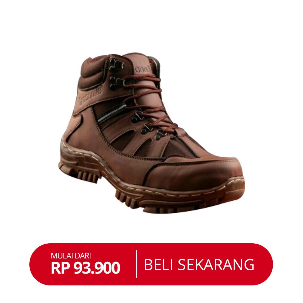 Sepatu Pria crocodile safety proyek zip boots adventure. Source · Size  . 2fec6514eb