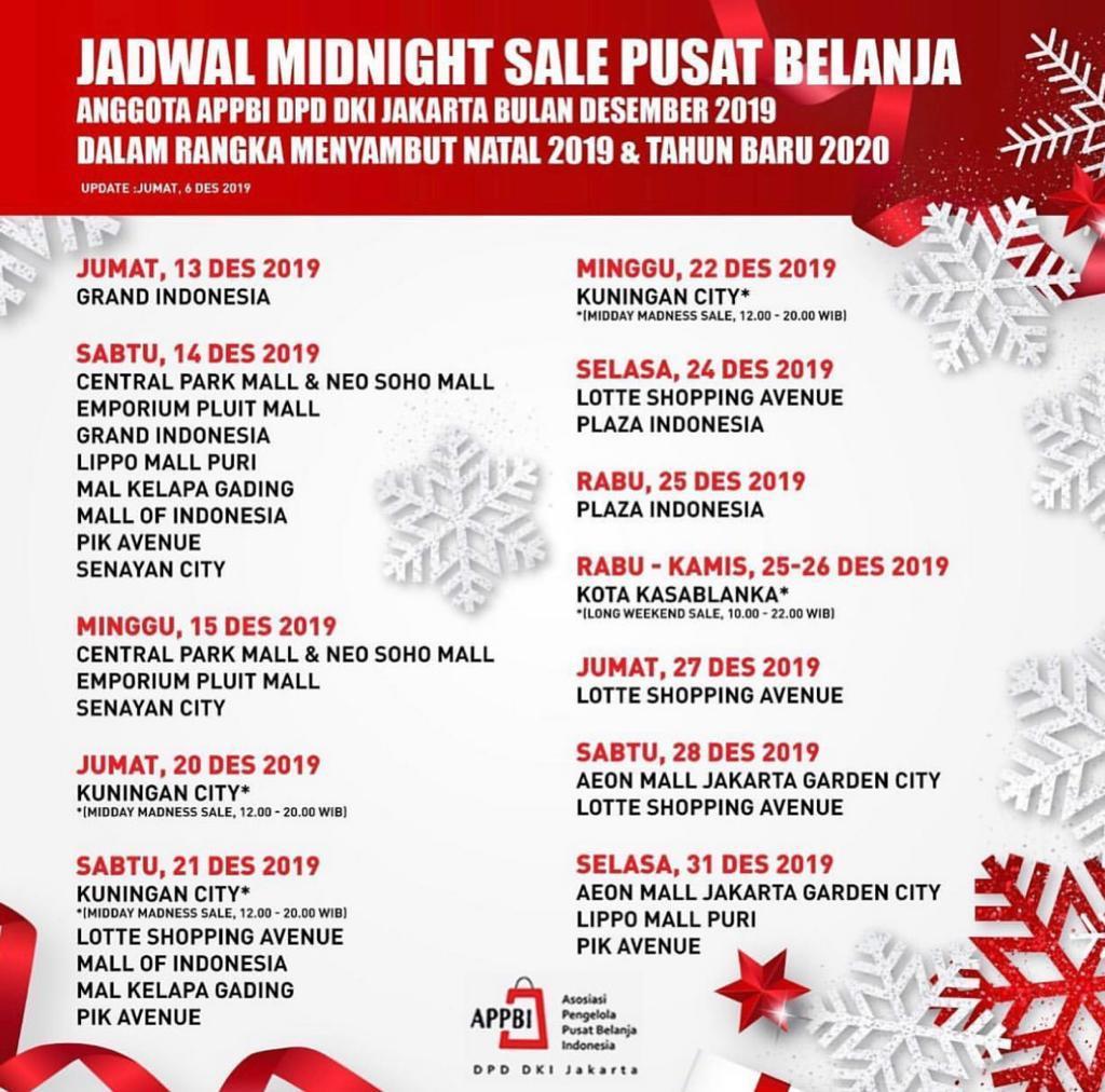 Jadwal Midnight Sale Jakarta