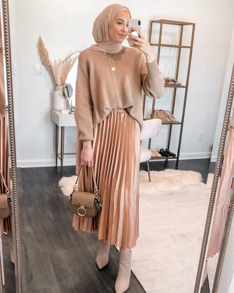 Outfit kasual muslimah muslim fashion