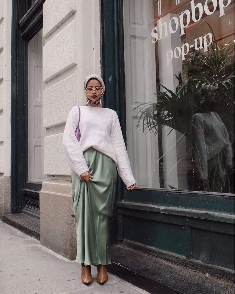 outfit kasual muslimah