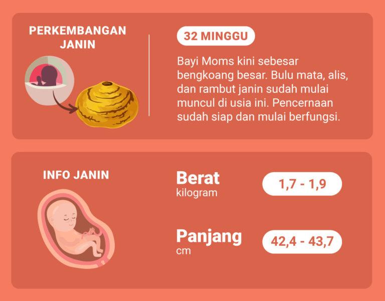 Apa yang Moms Rasakan ketika Masuk Minggu ke-32 Kehamilan?