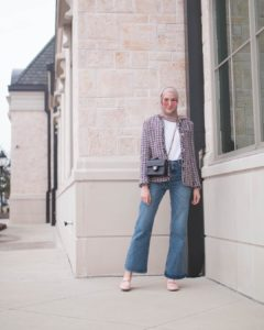 Blazer and Jeans Fashion Hijab