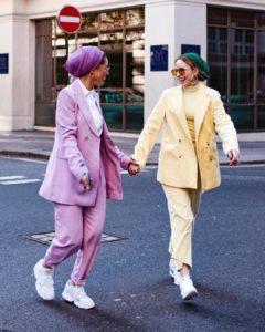 Blazer Pants Set Hijab Fashion gaya hijab kantor