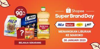 Shopee Super Brand Day HiLo Nutrisari L-Men Tropicana Slim