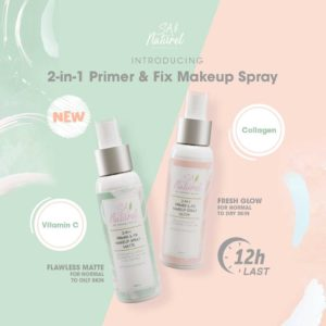SA Naturel 2-In-1 Primer & Fix Makeup Spray Glow Matte