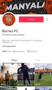 Borneo FC TikTok