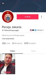 Persija Jakarta TikTok