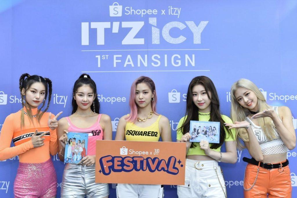 itzy fansign shopee k-pop