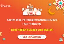 Kontes Blog #THRBigRamadhanSale2020 Bersama Shopee