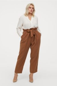Paperbag pants fashion wanita plus size