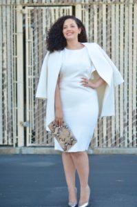 Fashion wanita serba putih untuk pemilik tubuh plus size