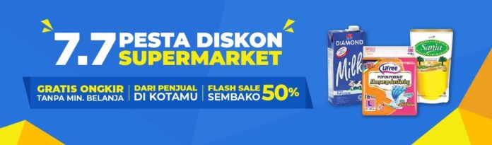 Shopee 7.7 Pesta Diskon Supermarket