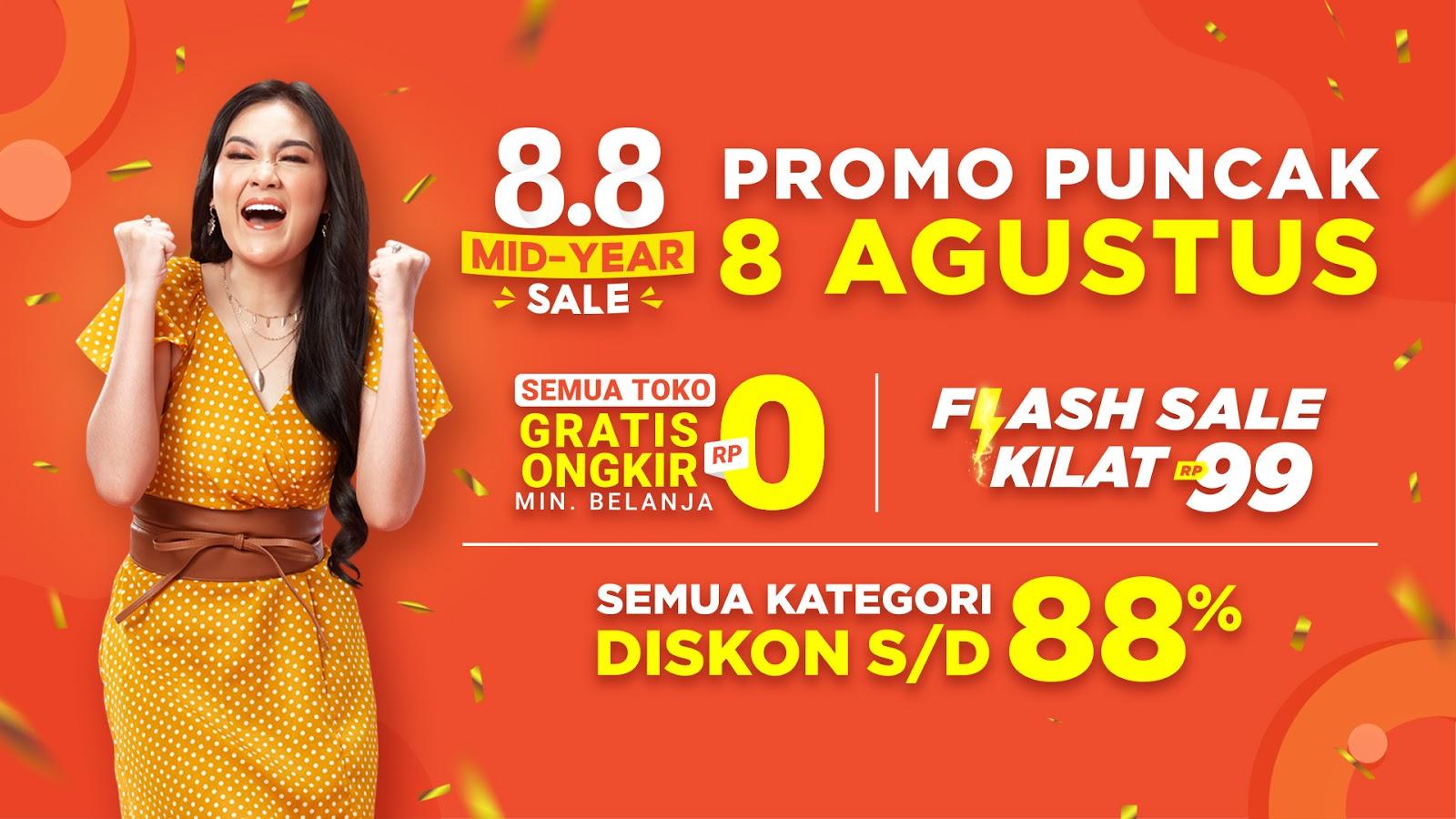 Hari Ini Jangan Lewatkan Penawaran Spesial Promo Puncak Shopee 8 8 Mid Year Sale Inspirasi Shopee