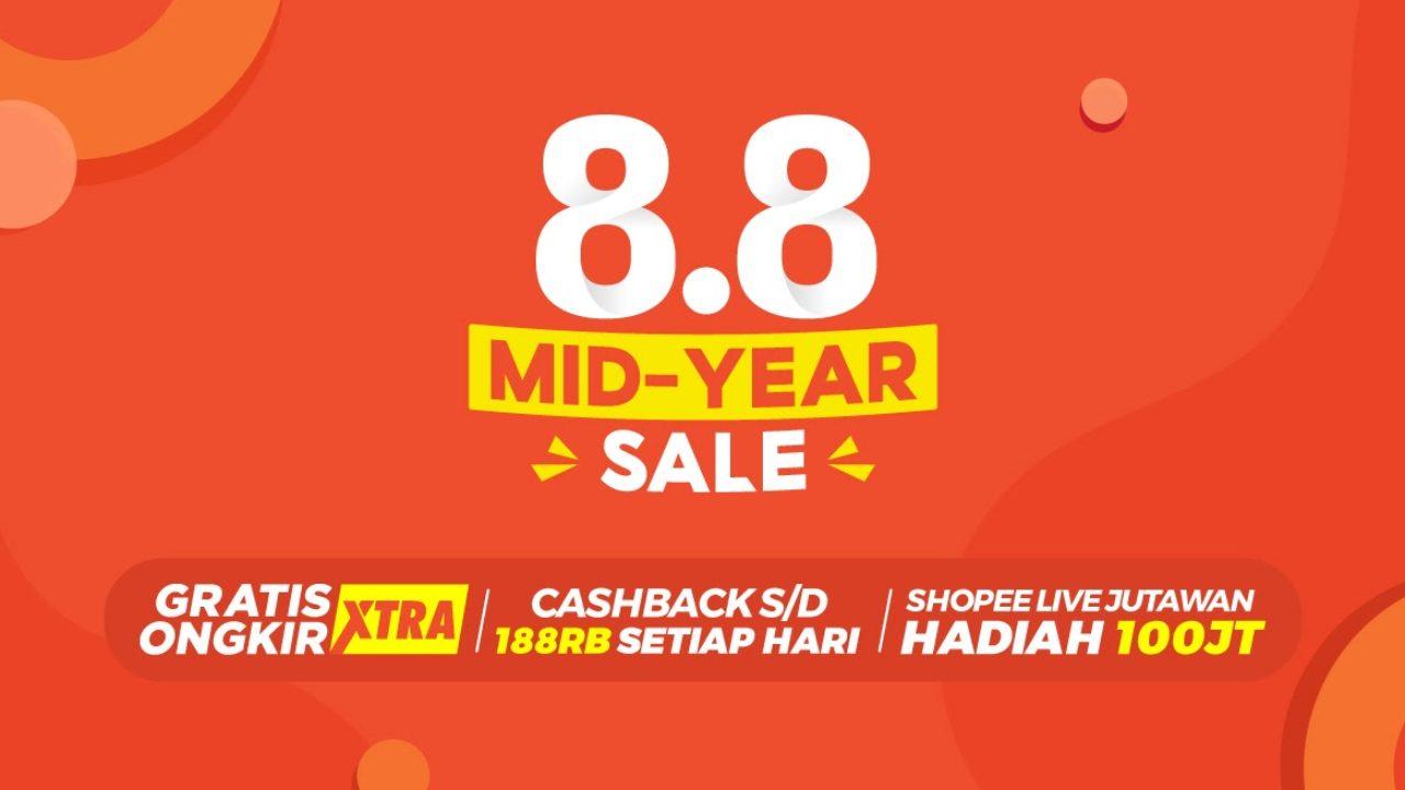 Ayo Belanja Seru Sepuasnya Dengan Promo Puncak Shopee 8 8 Mid Year Sale Besok Inspirasi Shopee