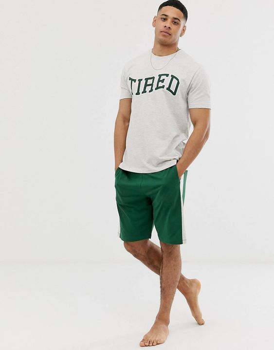 celana pendek loungewear pria