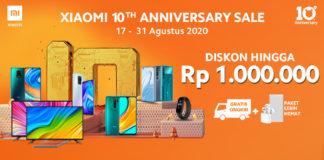 Xiaomi 10th anniversary sale