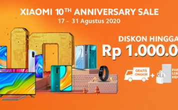 Xiaomi 10th anniversary sale