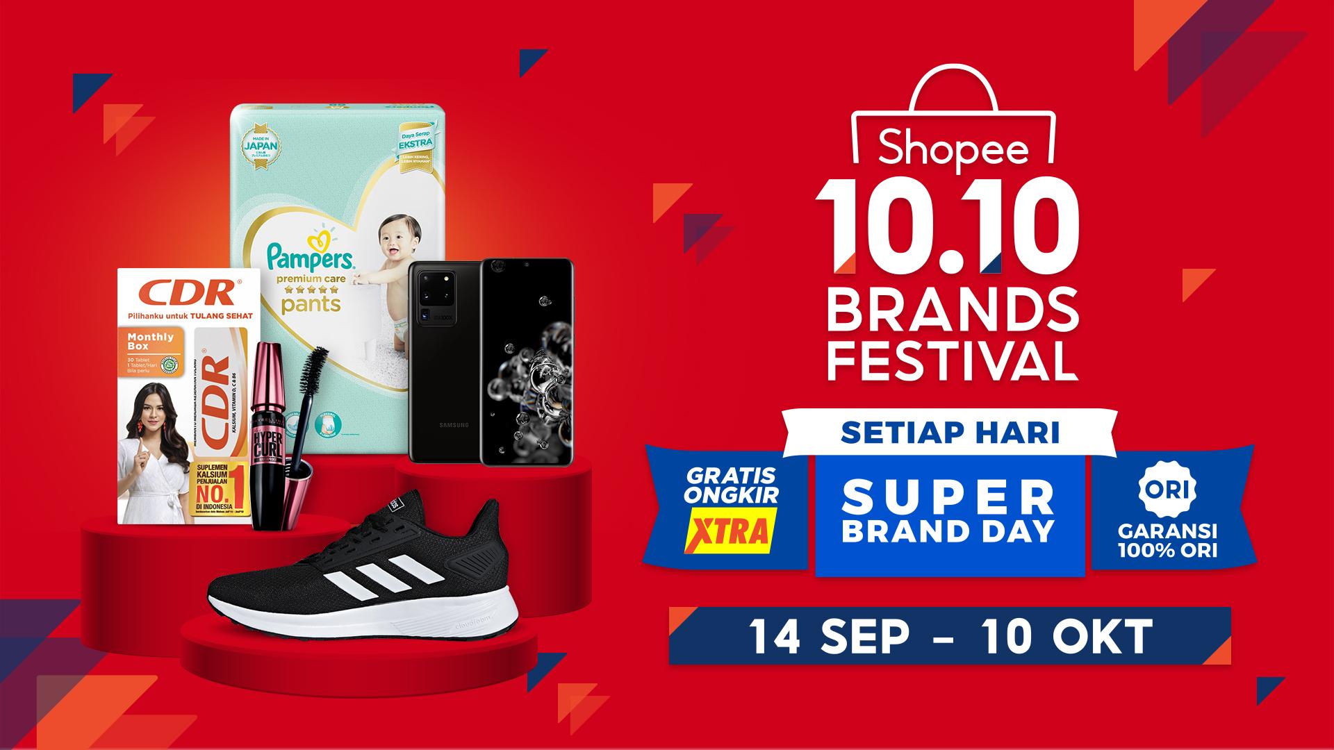 Belanja Produk Brand Favorit Jadi Lebih Murah Di Shopee 10 10 Brands Festival Inspirasi Shopee