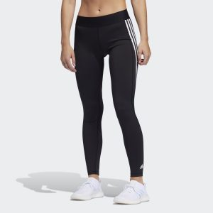 Adidas Alphaskin 3-Stripes Long Tights pakaian olahraga di rumah