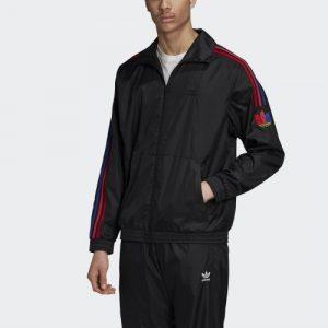 Adidas Originals 3D Trefoil 3-Stripes Track Jacket olahraga di rumah