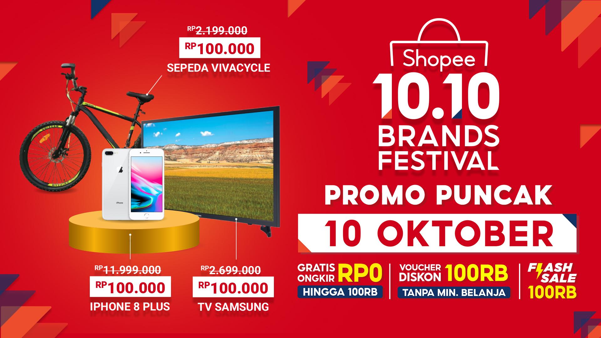 Hari Ini Serbu Penawaran Dari Brand Favorit Dalam Promo Puncak Shopee 10 10 Brands Festival Inspirasi Shopee