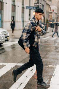 tartan outer fashion pria