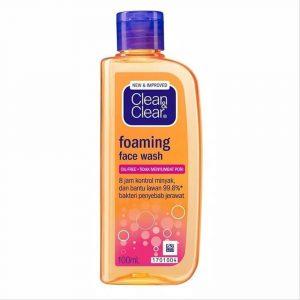 Clean & Clear Foaming Face Wash perawatan wajah sebelum tidur