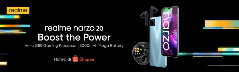 Meluncur Secara Eksklusif di Shopee, Ini Dia Spesifikasi realme narzo 20, realme Buds Air Pro, dan realme Watch S!