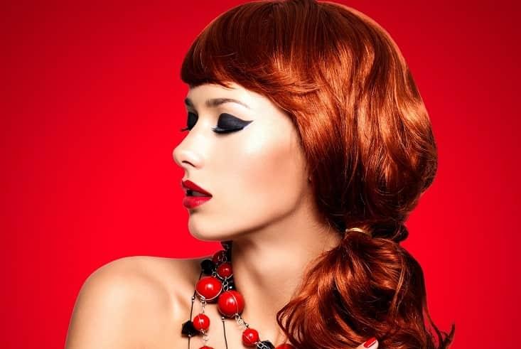dark copper red hair