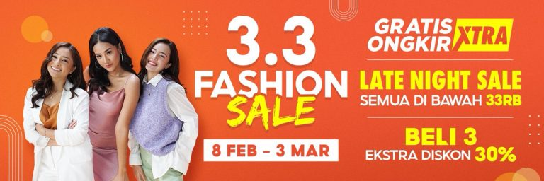 Yuk, Belanja Produk Fashion dari Brand Favorit di Promo Puncak Shopee 3.3 Fashion Sale!