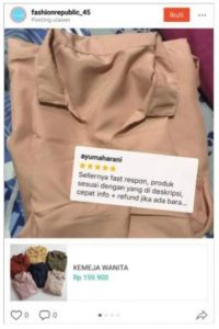 Review Pembeli di Shopee Feed