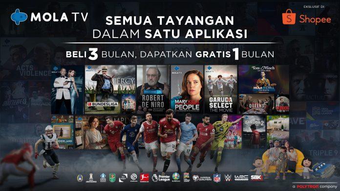 Nonton Premier League Murah Mulai 50 RB Per Bulan dengan Promo MOLA TV di Shopee!