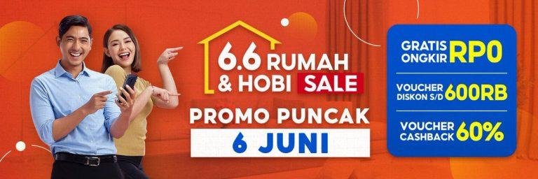 Serbu Gratis Ongkir, Diskon, & Cashback dalam Promo Puncak Shopee 6.6 Hobi & Rumah Sale!